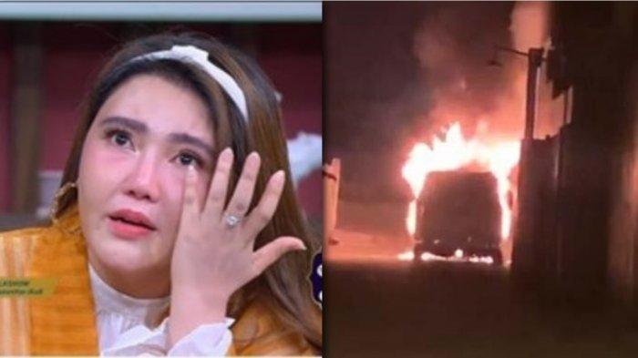 Terjawab Sudah, Pelaku Pembakar Mobil Alphard Via Vallen Ternyata Berperawakan Serba Hitam