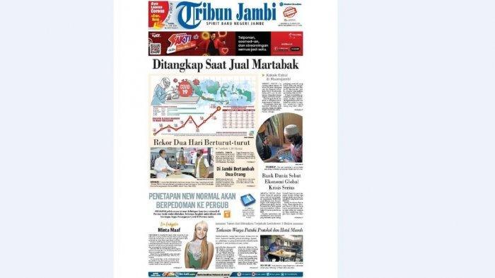 KLIK Link E-paper Tribun Jambi Edisi Kamis, 11 Juni 2020, Kakek Cabul di Muarojambi