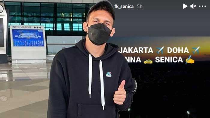 Egy Maulana Virki berangkat dari Jakarta ke Slovakia untuk bergabung dengan FK Senica