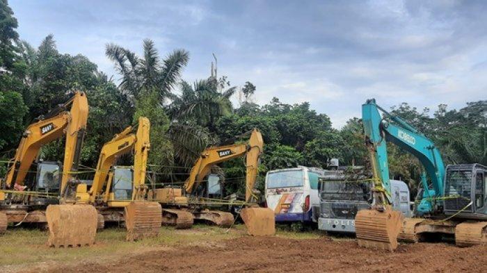 Satreskrim Polres Merangin Buru Pemilik Lima Alat Berat yang Disembunyikan Disemak-semak