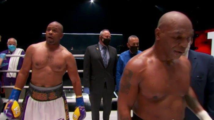 TINJU HARI INI Mike Tyson Vs Roy Jones Jr, Hasilnya Imbang dan Inilah Keputusan 3 Hakim