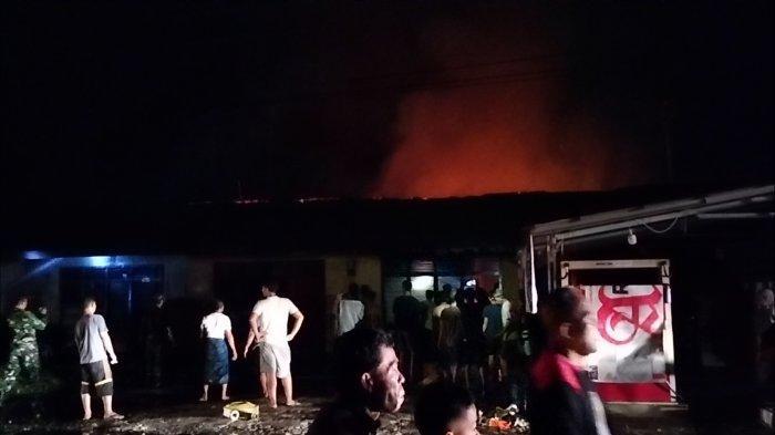 Kronologis Kebakaran di Kelurahan Pasar Sarolangun Saat Sahur, Api Bakar Enam Bedeng Warga