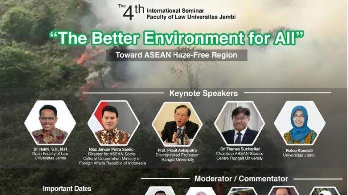 """Fakultas Hukum Universitas Jambi Gelar Seminar Internasional """"The Better Environment For All"""""""