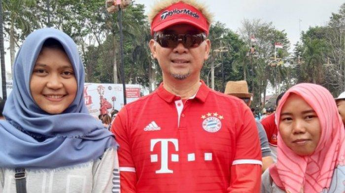Penampilan Berbeda Fasha di Perayaan HUT RI ke 74, Pakai Jersey Bola, Datang dengan Moge
