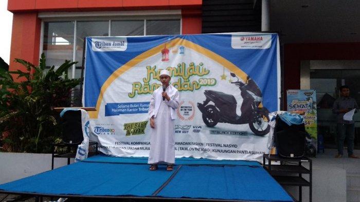 Fatuhrahman & Zikri Ardani, Dai Cilik di Kemilau Ramadhan Tribun Jambi, Belajar Lewat Buku dan Video