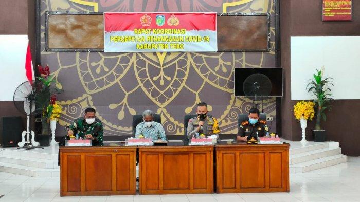 Rapat Forkompinda Tebo, Kapolres Dorong Pemda Percepat Penyerapan Anggaran Covid-19