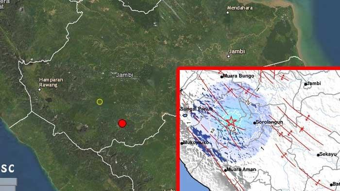 Inilah Penyebab Gempa di Merangin Bermagnitudo 4,3