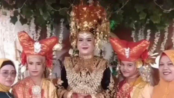 Foto mempelai wanita yang meninggal dunia, usai melakukan akad nikah sebelum meninggal