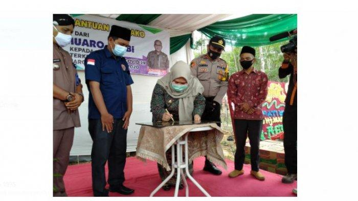 PT Tanah Emas Indonesia launching Villa Agronesia yang bertempat di Desa Talang Belido, Kecamatan Sungai Gelam, Kabupaten Muaro Jambi, Jumat (4/12).
