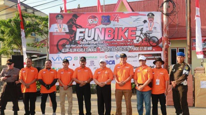Pemkab Gelar Fun Bike, Meriahkan Rangkaian Hari Jadi Kabupaten Tanjabarat Ke 54 Dan HUT RI Ke 74