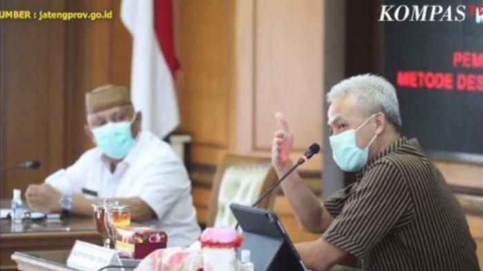 Gubernur Gorontalo Rusli Habibie datang ke Semarang untuk menemui Gubernur Jawa Tengah Ganjar Pranowo, Selasa (25/5/2021).