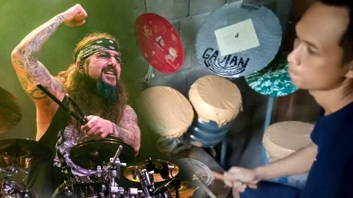Eks Drummer Dream Theater Takjub dengan Aksi Pria Indonesia, Deden yang Main Drum dari Barang Bekas