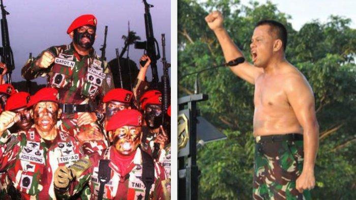 Gatot Nurmantyo mendapat brevet kehormatan Kopassus dengan susah