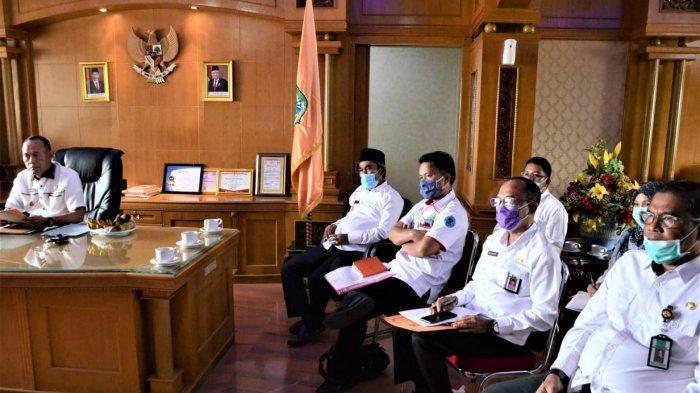 Bupati Sukandar Ikuti Konferensi Video Akuntabilitas Pelaksanaan Anggaran yang Dipimpin Mendagri