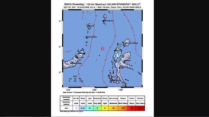Gempa hari ini, Rabu 22 September 2021