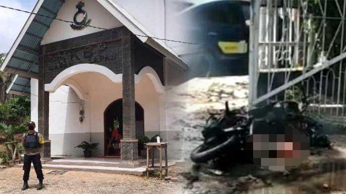 SEMPAT Dicegat Security, Pelaku Bom Bunuh Diri Ledakan Diri di Gerbang Gereja Katedral Makassar