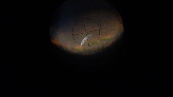 Hasil Pantauan Gerhana Bulan di Jambi, Puncak Super Blood Moon Terjadi Petang Hari