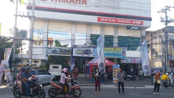 Yamaha Motor Show - CSR Sabang Raya Motor Bagikan Masker, Hand Sanitizer dan Mini Games