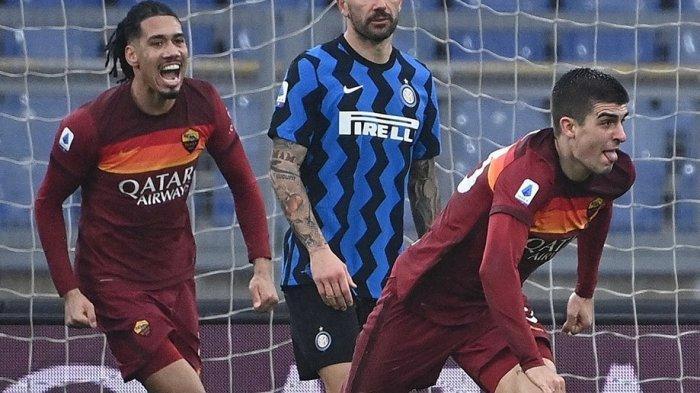 Hasil Laga AS Roma Vs Inter Milan, Skor Imbang 2-2, G Mancini Buyarkan Suka Cita Lukaku Dkk
