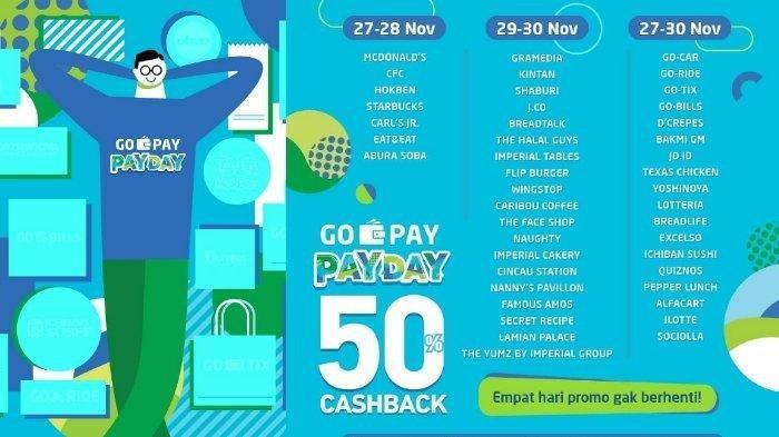 Cashback 50 Persen di Promo Gopay Payday, Mulai dari Starbucks, McDonalds , CFC Mulai Hari Ini!