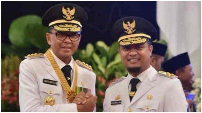 Gubernur dan Wagub Sulsel, Nurdin Abdullah dan Andi Sudirman Sulaiman sesuai dilantik di Istana Negara, Jakarta, 5 September 2018. Nurdin Abdullah ditangkap KPK, Wagub Andi Sudirman Sulaiman berpeluang jadi gubernur di usia 37 tahun.