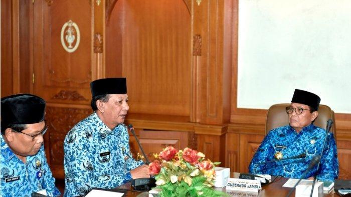 Pasca Dilantik Jadi Gubernur Jambi Fahcrori Umar Kumpulkan Kepala OPD dan Berikan 5 Instruksi Ini