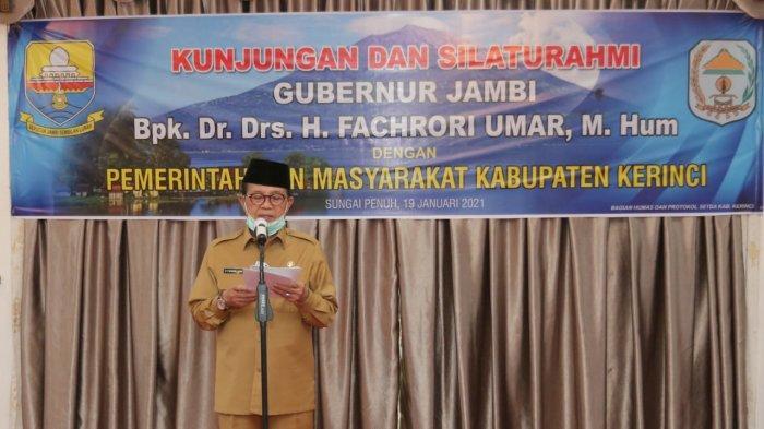 Gubernur Jambi saat berada di di Kabupaten Kerinci, Selasa (19/1/2021) siang.