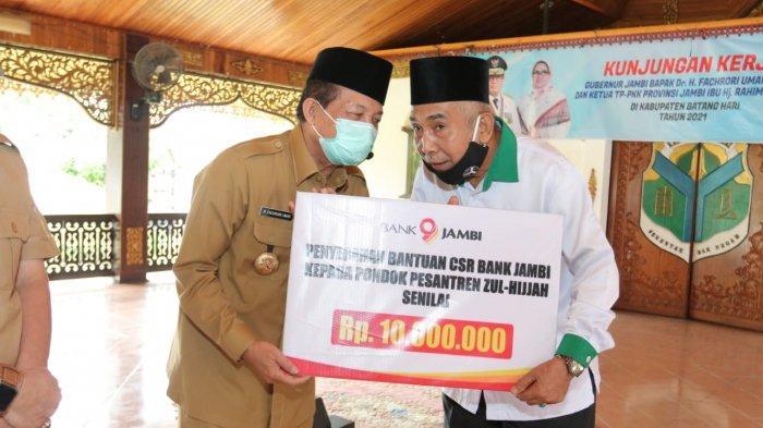 Gubernur Jambi Dr.Drs.H.Fachrori Umar,M.Hum menggandeng Baznas Provinsi Jambi dan Bank Jambi untuk meningkatkan pembangunan pendidikan di Provinsi Jambi.