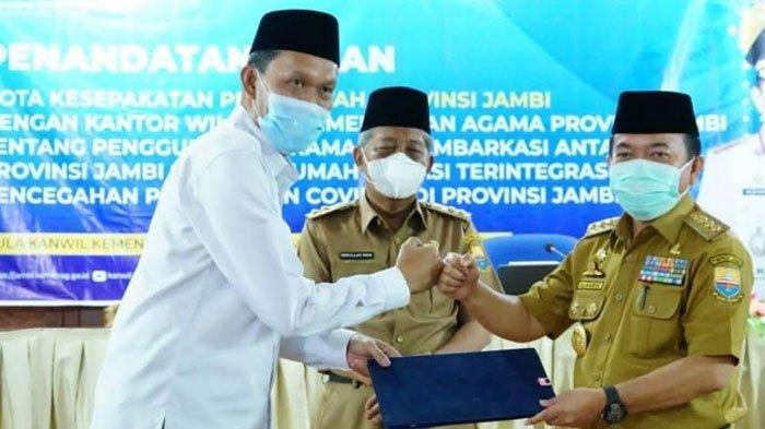 Gubernur dan Kemenag Tandatangani Nota Kesepahaman Pemanfaatan Asrama Haji Menjadi Rumah Isolasi