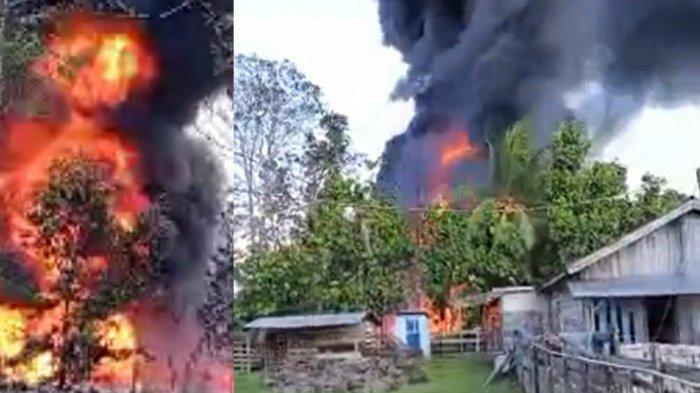 Gudang Minyak di Bungo Terbakar, Warga Dengar Beberapa Kali Ledakan