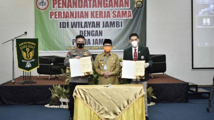 Gubernur Apresiasi Perjanjian Kerja Sama IDI dan Polda Jambi di Bidang Pelayanan Kesehatan