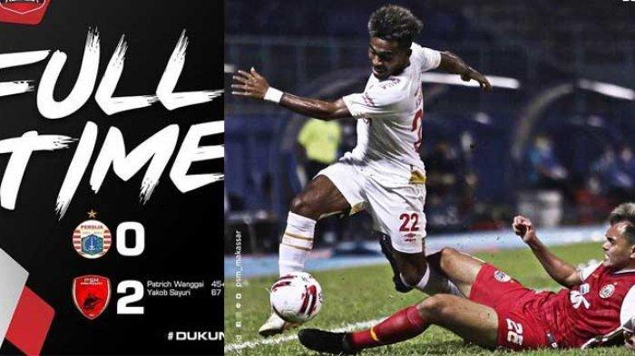 HASIL Piala Menpora Malam Ini, Persija Terlempar ke Dasar Grup B Usai Takluk 0-2 dari PSM Makassar