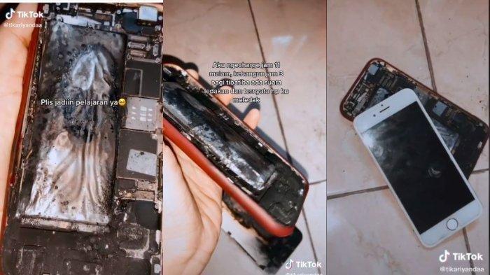 VIRAL HP Meledak saat Dicas, Diduga Penyebabnya Karena Baterai Rusak, Kaget saat Kamar Penuh Asap