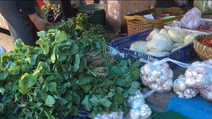 Harga Sayuran Masih Fluktuatif di Pasar Kramat Tinggi Batanghari, Harga Sawi Turun Rp 6.000