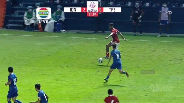 Cuplikan Gol Evan Dimas Saat Babak Kedua Timnas Indonesia vs Taiwan Tadi Malam