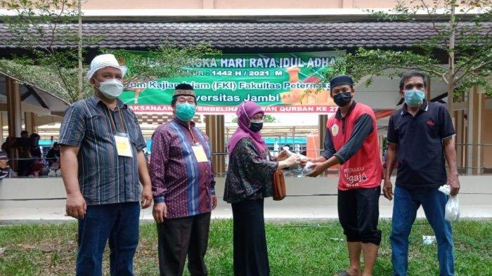 Fakultas Peternakan Universitas Jambi Potong 9 Ekor Sapi Tepat di Hari Raya Idul Adha
