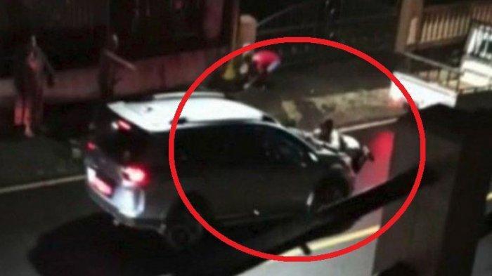 Detik-detik Wakil Ketua DPRD Sulut Tabrak dan Seret Istri di Jalanan, Ketahuan Bawa Selingkuhan