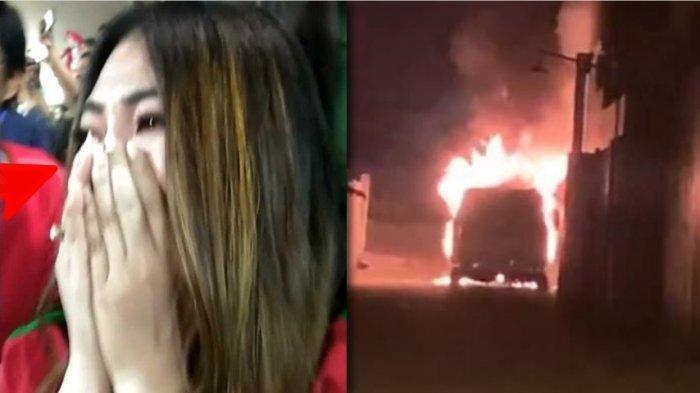 Teriak Via Vallen Histeris hingga Ucap Istighfar Lihat Mobil Alphardnya Terbakar: Astaga, Tolong