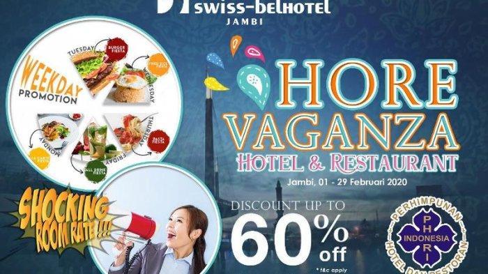 Hore Vaganza Hotel & Restaurant dari Swiss-Belhotel Jambi, Dapatkan Berbagai Promo
