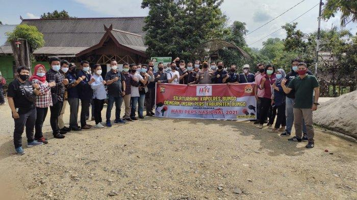 Peringati HPN Bersama Insan Pers, Kapolres Kumpulkan Awak Media di Kabupaten Bungo