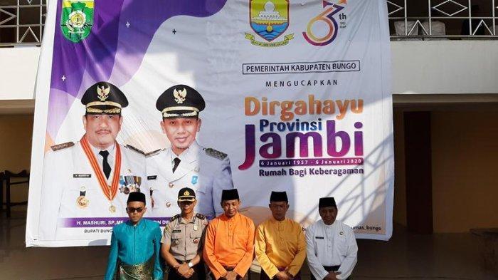 Pemkab Bungo Gelar Upacara, Wabup Langsung Sampaikan Pidato Gubernur Fachrori