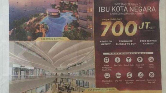 Ibu Kota Baru Dimumkan, Viral Iklan Apartemen Agung Podomoro di Kaltim, Ini Kata Pemasang iklan