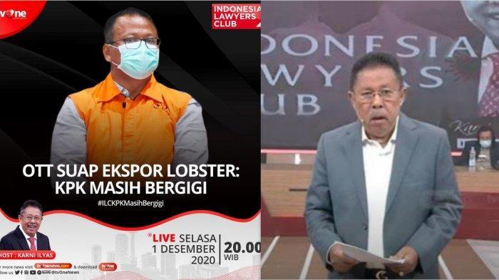 ILC TV One Malam Ini Bahas OTT KPK ke Menteri KKP