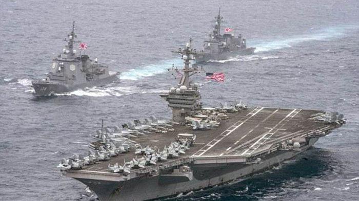 Kapal Induk Amerika Ronald Reagan Kembali Lagi ke Laut China Selatan, Siap Serang Tiongkok?