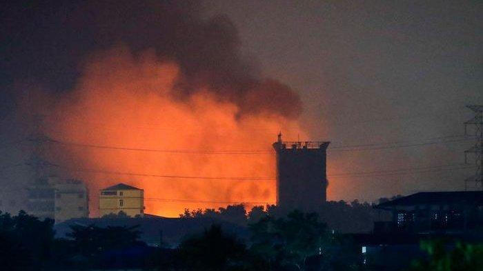 Kekejaman Junta Militer Myanmar Terkuak Usai Satelit NASA Rekam Sebuah Desa Luluh Lantak Dibakar