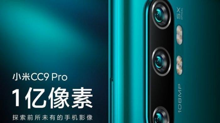 Spesifikasi Xiaomi Mi Note 10, Ponsel 108 Mp dengan 5 Kamera, Pakai Snapdragon 855 Terbaru