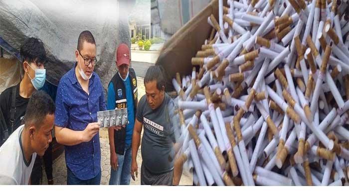 Bawa Rokok Ilegal dari Jambi, Truk Kontainer Dibuntuti Petugas dari Medan hingga Diamankan di Aceh