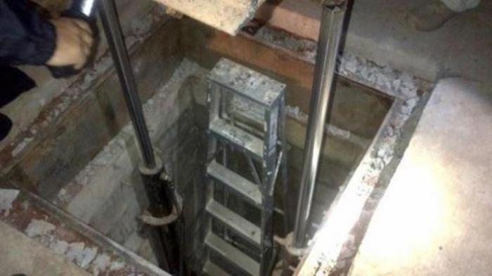 Ilustrasi terowongan rahasia.