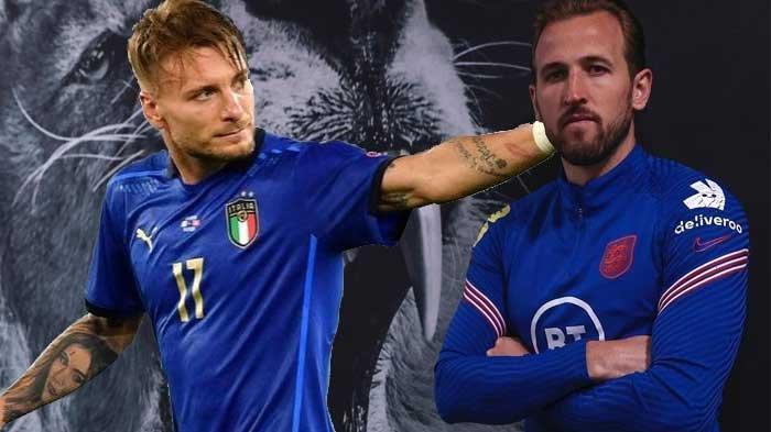 Inilah Rapor Dua Striker Utama di Final EURO Italia vs Inggris dan Prediksi Skor
