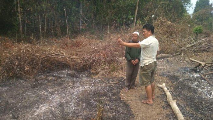 Ingin Lahannya Ditanami Sawit, Seorang Pria Tertangkap Tangan Bakar Lahan di Mandiangin, Sarolangun
